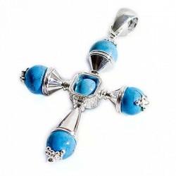 Croce a quattro coni con turchesi
