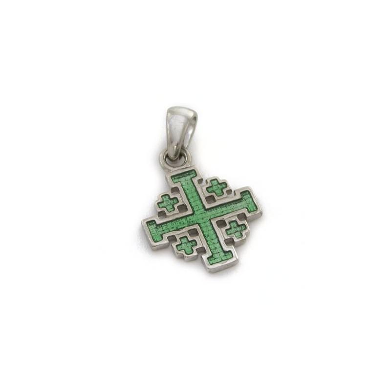 Croce Gerusalemme smaltata piccola