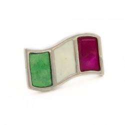 Bandiera italiana spilla smaltata