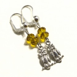 Orecchini con topazio giallo e pendente