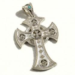 Croce celtica smaltata grande