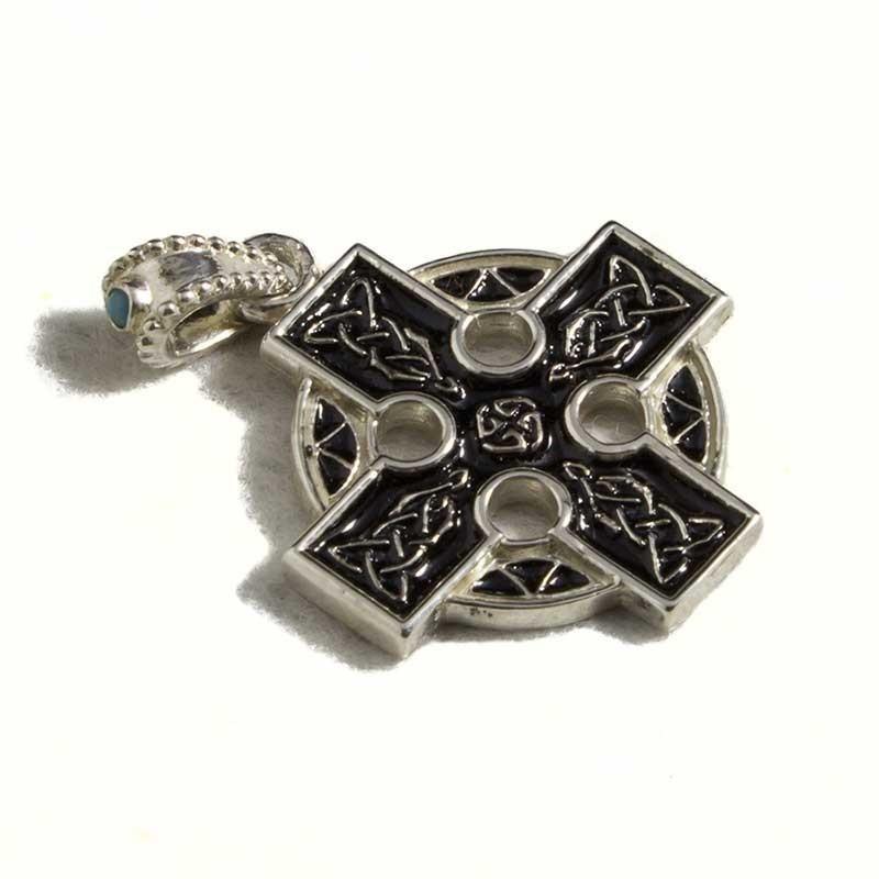 Croce celtica smaltata media corta