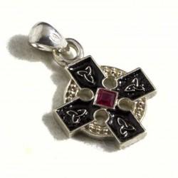 Croce celtica piccola con pietra centrale