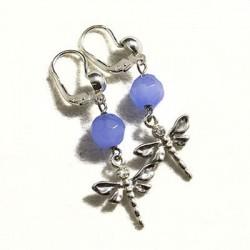 Orecchini con agata azzurra
