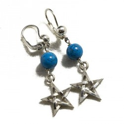 Orecchini con turchese e pendente stella